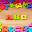 Foto Stock: Early education concept with letters