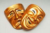 Masks with the theatre concept — Foto de Stock