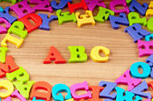 Early education concept with letters — Stock Photo