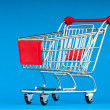 Royalty-Free Stock Photo: Shopping cart against the background