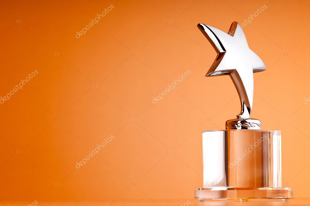 Star award against gradient background - Stock Image
