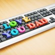 I love you Dad words on the keyboard — Stock Photo #5870647