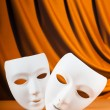 Masks with theatre concept — Stock Photo #5873619