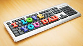 I love you Dad words on the keyboard — Foto de Stock