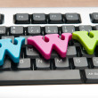 WWW letters on the keyboard — Stock Photo #5903100
