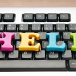 Stock Photo: HELP concept with letters on keyboard
