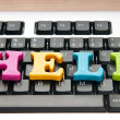 HELP concept with letters on keyboard — Foto Stock