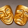 Masks with the theatre concept — Foto de Stock
