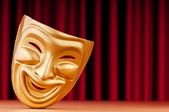 Masks with the theatre concept — Stock Photo