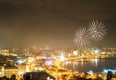 Fireworks in Baku, Azerbaijan — Stock Photo