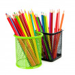 Colourful pencils isolated on the white - Lizenzfreies Foto