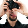 Photographer with the digital camera — Stock Photo #6081521