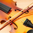 Violin isolated on the white — Stock Photo