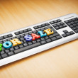 SALE word on the keyboard — Foto de stock #6082858