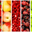 Collage of many fruits and vegetables — Stock Photo #6084472