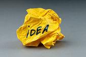 Geweigerde idee concept met papier — Stockfoto