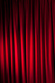 Brightly lit curtains for your background — Stock Photo
