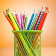 Colourful pencils on the background — Stock Photo #6204999