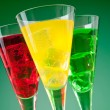 Colourful cocktail in glasses with ice — Stock Photo #6207574