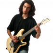 Guitar player isolated on the white background — Stock Photo #6208398