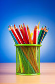 Colourful pencils on the background — Stock Photo