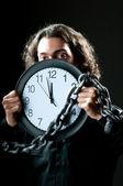 Homem algemado para o relógio — Foto Stock