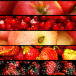 Collage of many fruits and vegetables — Stock Photo #6272824