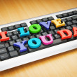 I love you Dad words on the keyboard — Stock Photo #6278054