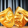 Masks with the theatre concept — Foto Stock