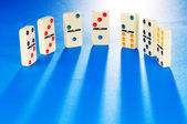 Domino effect with many pieces — Stock Photo