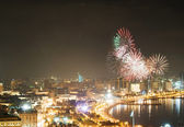Fireworks in Baku, Azerbaijan — Stock Photo