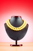 Stand with necklace in fashion concept — Стоковое фото