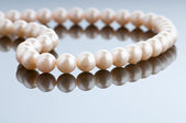 Pearl necklace in fashion and beauty concept — 图库照片
