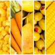 Collage of many fruits and vegetables — Stock Photo #6327036