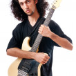 Guitar player isolated on the white background — Stock Photo #6327047