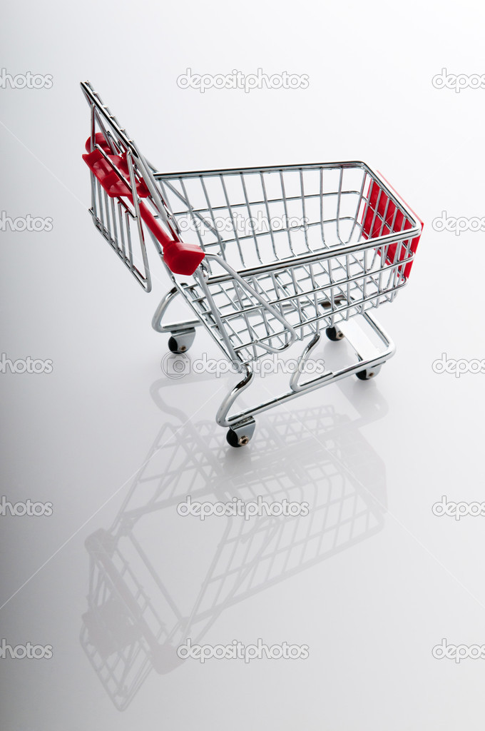 Shopping cart against the  background  Stock Photo #6329812