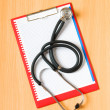 Medical concept with stethoscope — Stock Photo