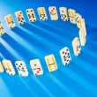 Domino effect with many pieces - Foto de Stock