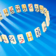 Domino effect with many pieces - Foto Stock