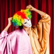 Actor with maks in a funny theater concept — Stock Photo #6334766