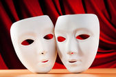 Masks with theatre concept — Stock Photo