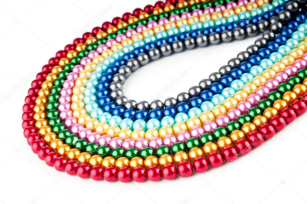 Abstract with colourful pearl necklaces — Stock Photo #6336207