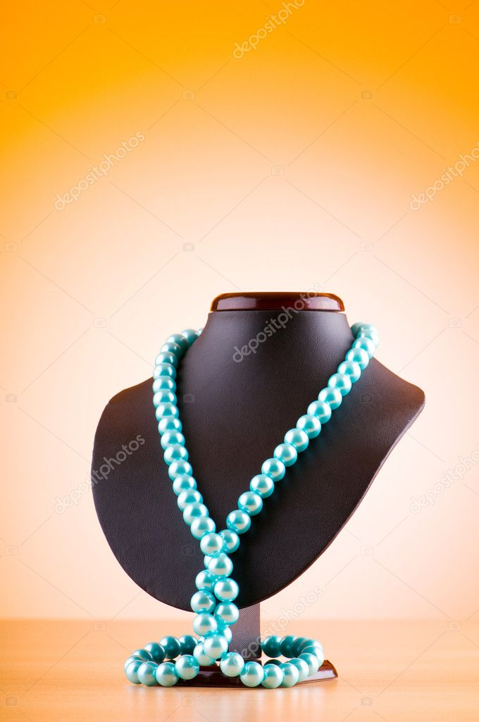 Stand with necklace in fashion concept — Stock Photo #6342412