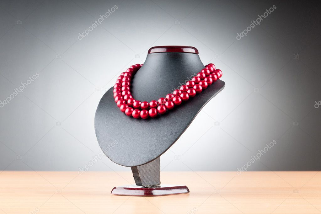 Pearl necklace against gradient background  Stock Photo #6346278