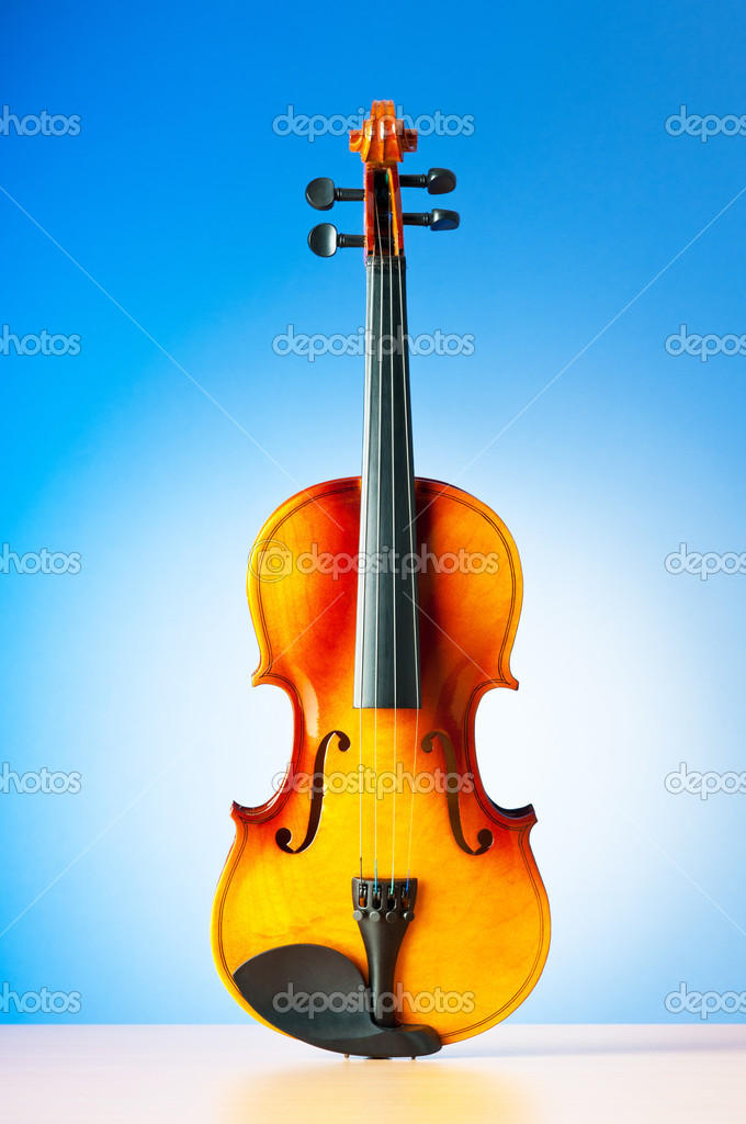 Music concept with violin — Stock Photo #6347505