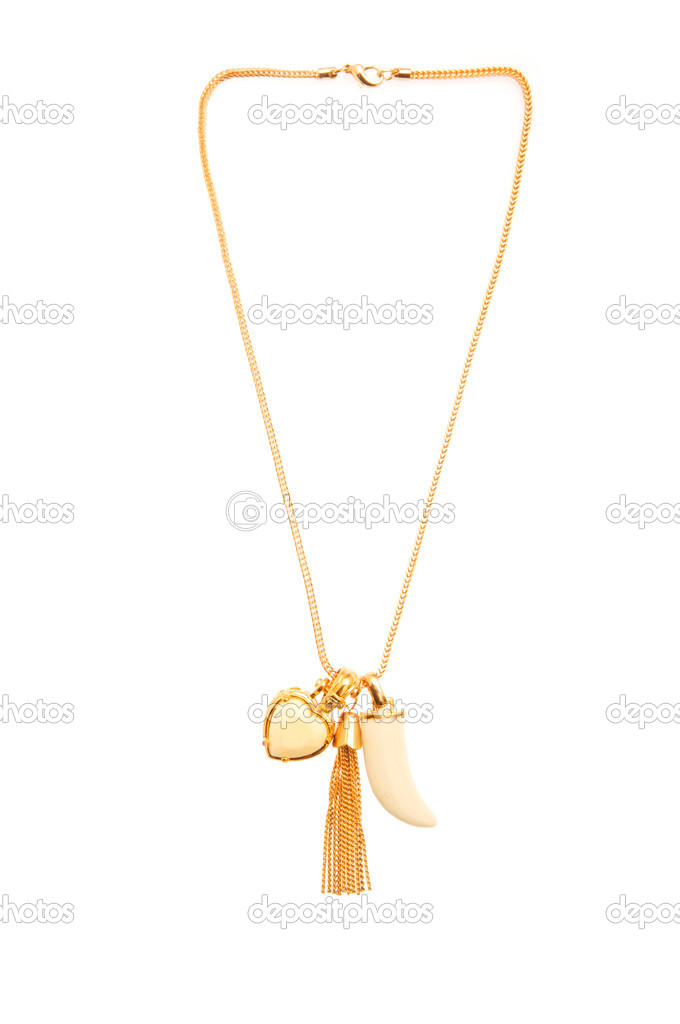 Elegant necklace isolated on the white background  Stock Photo #6348082