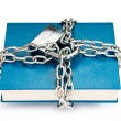 Stock Photo: Censorship concept with books and chains on white