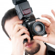 Photographer with the digital camera — Stock Photo #6350643