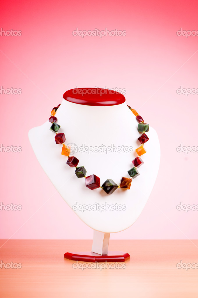 Fashion concept with necklace — Stock Photo #6350945