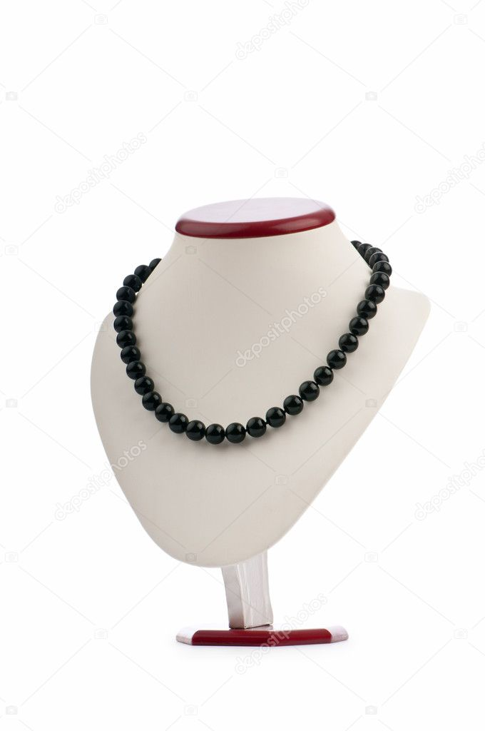 Fashion concept with necklace — Stockfoto #6351012